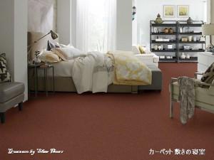 輸入カーペット敷きの寝室
