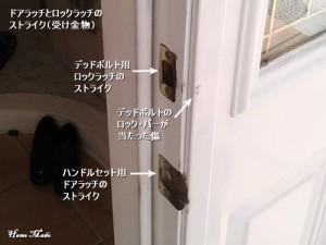 輸入玄関ドアのストライク