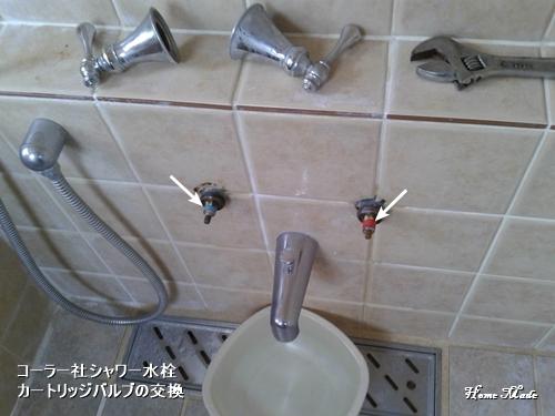 コーラー社シャワー水栓の修理