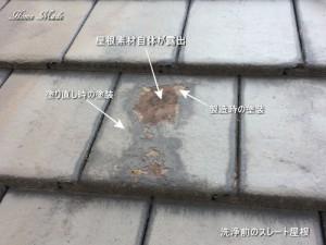 洗浄前のスレート屋根