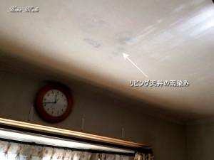 リビング天井の雨染み