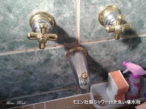 モエン社製シャワー付き洗い場水栓